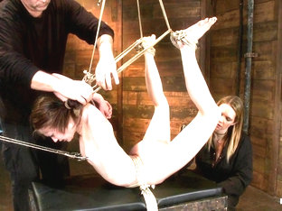 Severely Bound Into A Brutal Hogtie And Pulled To The Breaking Pointmade To Cum Over And Over - Ho.