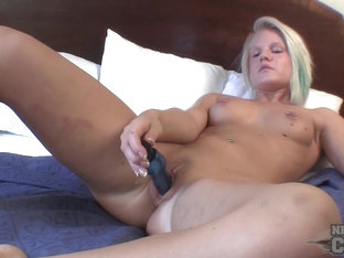 Jules from Small Town Iowa Using a Dildo for the First Time - NebraskaCoeds