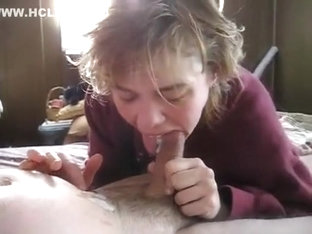 A dick is eaten by ugly girl