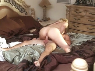 Blonde mom Julia and young guy