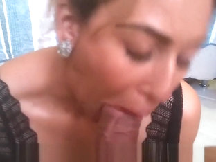 Hot blonde sucks a big dick get fucked in the mouth