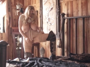 KELLY MADISON Solo Anal Play in Country Lace